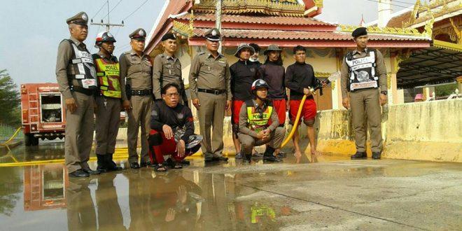 ตำรวจ สภ.ช้างใหญ่ ลดปัญหาฝุ่นละออง PM2.5